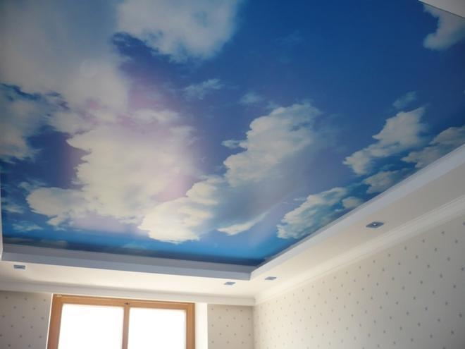 фотопечать небо ако потолок